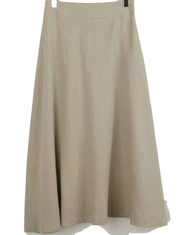 Linen flared skirt (2 colors)