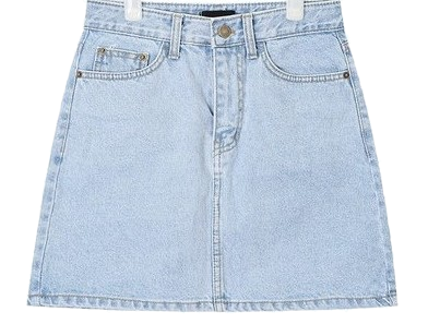 day A-line denim skirt (s, m, l)