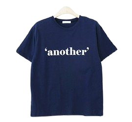 Unlined Lettering Short Sleeve Tee