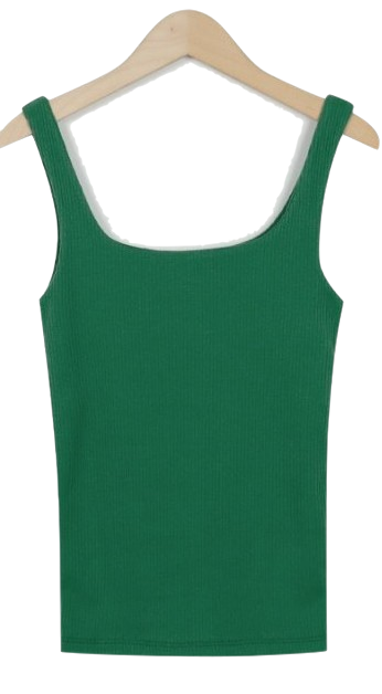 Made_top-129_square knit sleeveless_M (size : free)