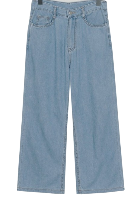 Summer blue wide denim pants_B (size : S,M,L)