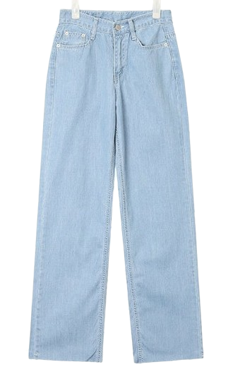 image stitch wide denim pants (s, m)