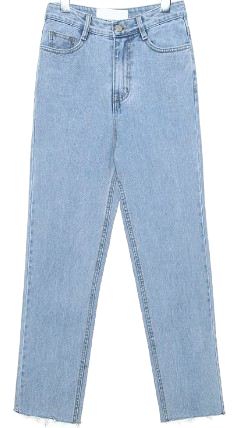 LIGHT HIGH CROP DENIM PANTS