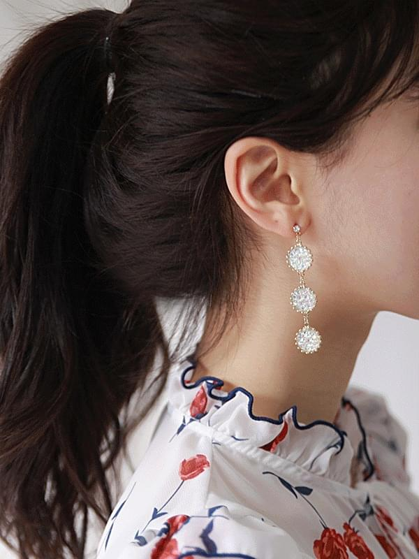 Sun Crystal Drop Earring (acc787)