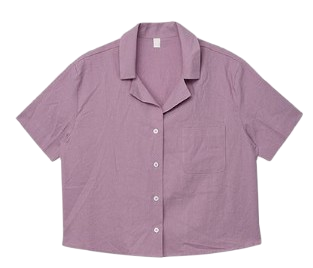 Half Crop Linen Pocket Shirt