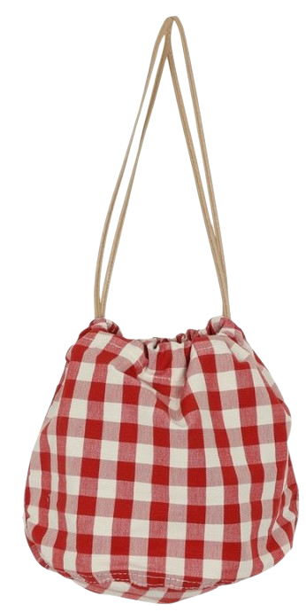 Candy check bucket bag_H (size : one)