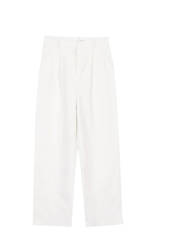 Pintuck cotton pants (2colors)
