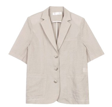 Linen half jacket (3color)
