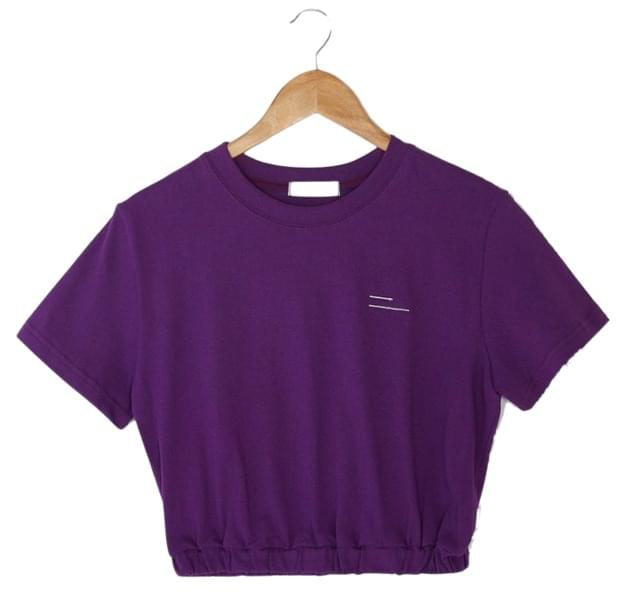 banding crop cotton tee