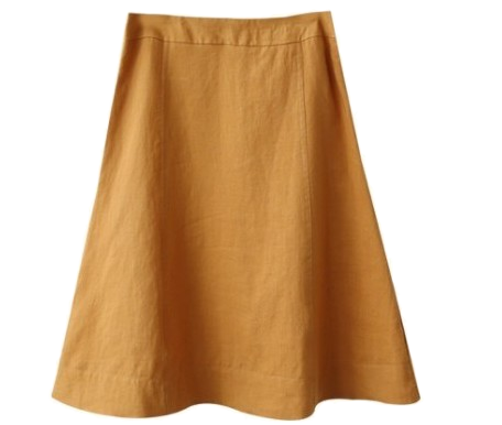 Linen incision skirt