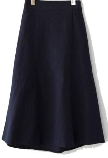 Long skirt with linen cut
