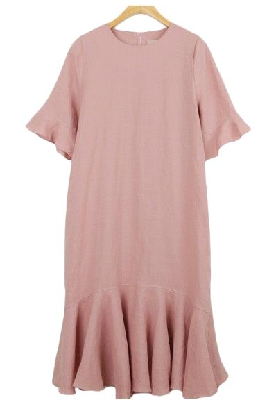 High quality :) Rose linen dress (2 colors)