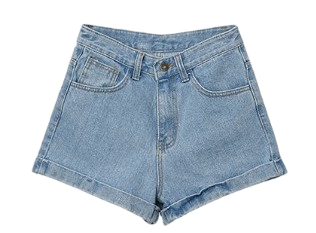 Roll-up Short Denim Pants