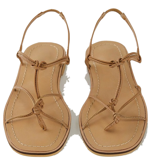 knot detail twist sandal