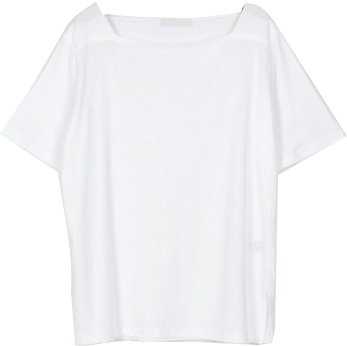 simple square neck tee