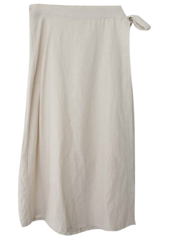 Believe-linen wrap skirt