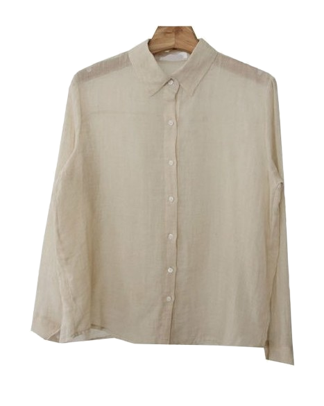 Story-linen gauze cotton shirt ♥ release commemorative weekend free shipping only during ♥