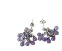 clear beads earrings (2colors)