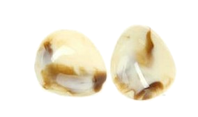 Rose Marble Dome Earring