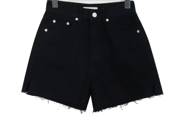 Slit cutting cotton shorts_M (size : S,M,L)