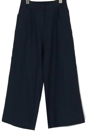 linen cropped pants (2colors)