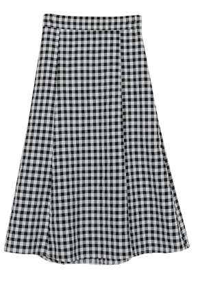Lil check maid skirt