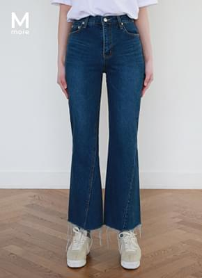 Unique boots cut denim pants