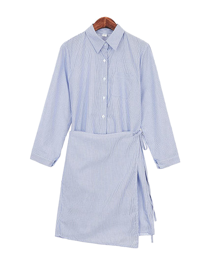 Blit Lap Shirt Dress