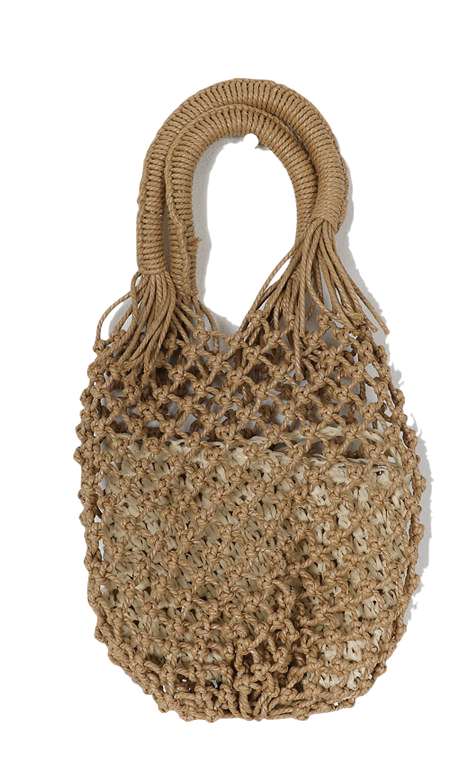 Rope Weaving Rattan Tote Bag