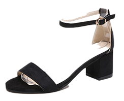 Tongue strap sandals Middle heel