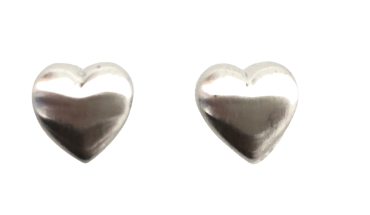 Silver Mini Heart Earrings