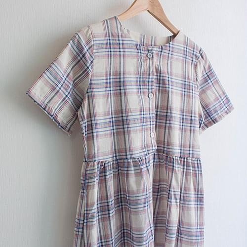 Collected Vintage Check Long Dress