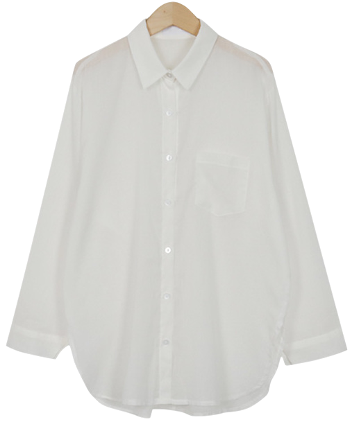 Beach summer cotton shirt_H (size : free)