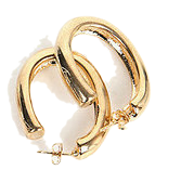 oval hole earring