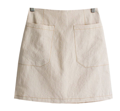 Julie Stitch Linen Bending Skirt
