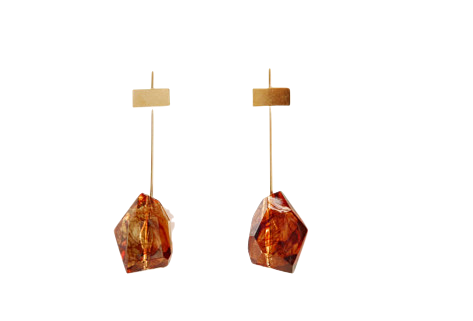 GOLD STICK CRYSTAL EARRING