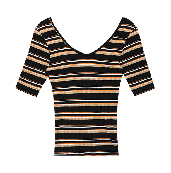 Jucci striped corrugated top