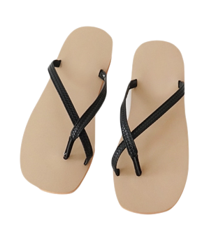 weave pattern strap flip flops (2colors)