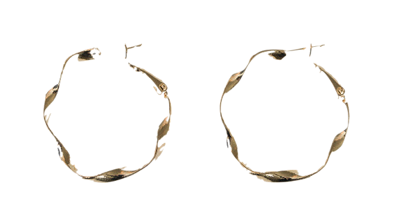 unique twist circle earring