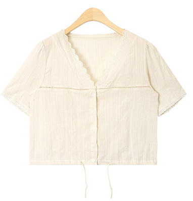 soft pure lace point blouse