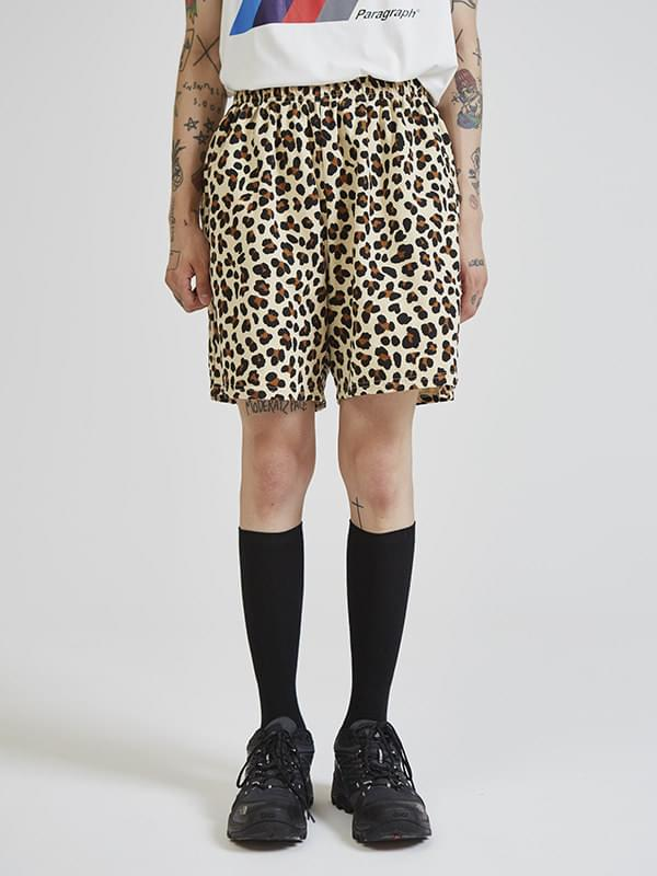 leopard half pants (2 color) - UNISEX