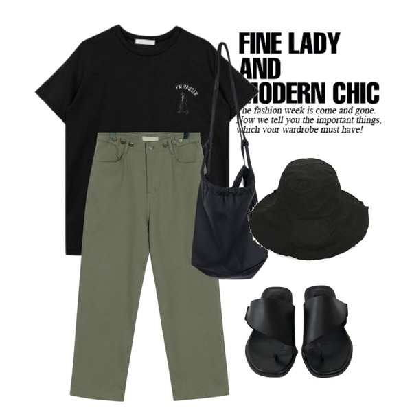 Untitled,biznshoe Pauser tee (3color),From Beginning Forest button boy pants_B (size : free)등을 매치한 코디