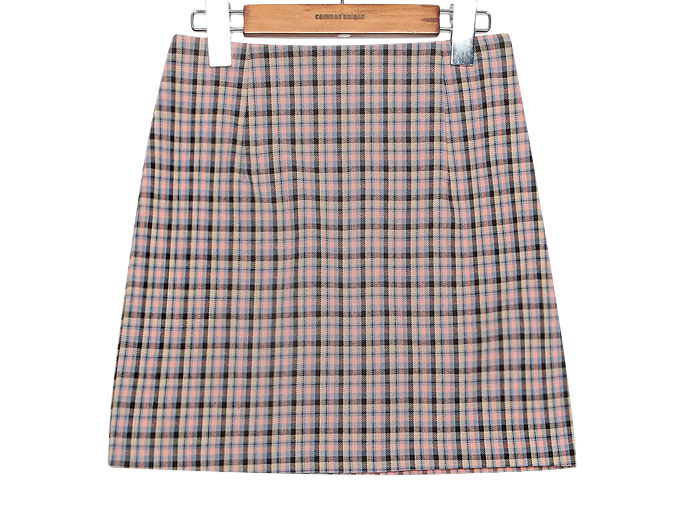 VINTAGE CHECK H LINE MINI SKIRT
