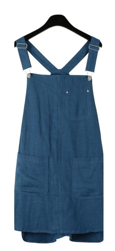 Casual linen suspender one-piece
