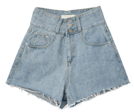 High Waist Button Short Pants