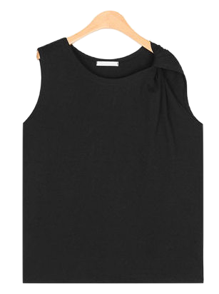 unbal twist shoulder sleeveless