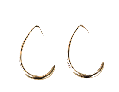 fake curve earring