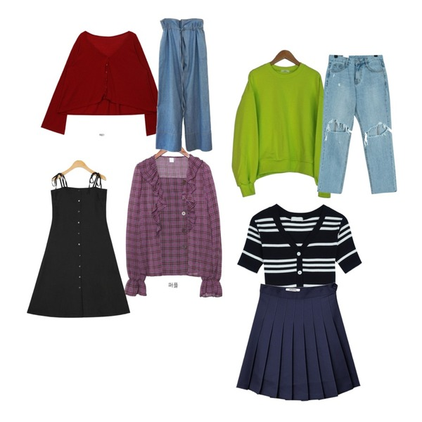 about moon 도톰이 지퍼숏 맨투맨,openthedoor summer basic cardigan (5 color),common unique [TOP] 5 BUTTON CHECK FRILL CHIFFON BLOUSE등을 매치한 코디