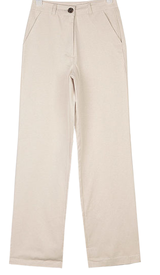 french shape long pants (s, m)