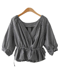 Eve Check Blouse